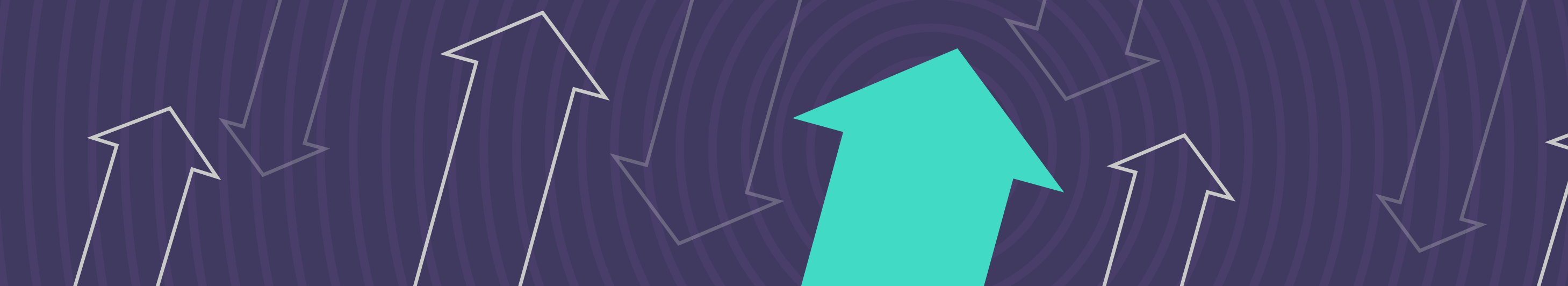 illustration of arrows on a purple background