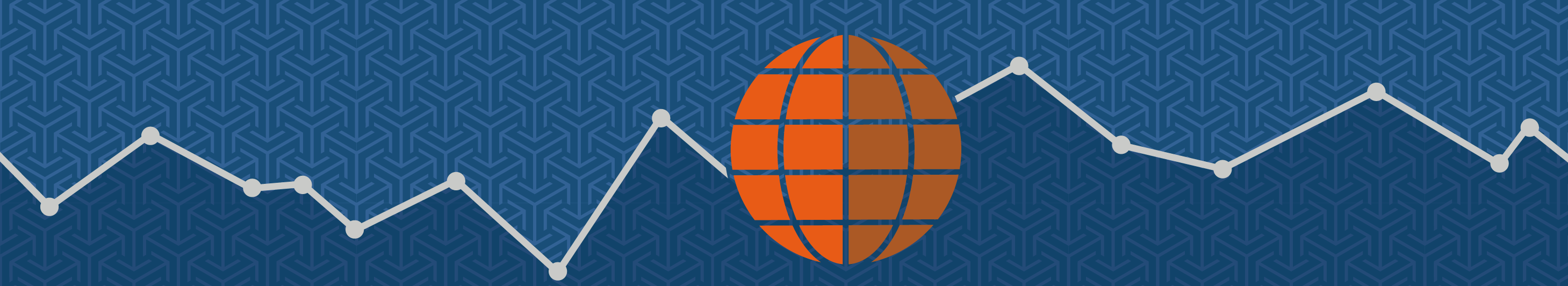 illustration of an orange globe on a blue background