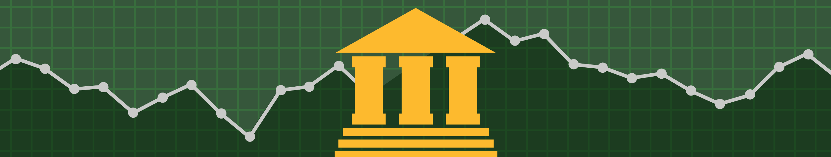 illustration of yellow government building with green background
