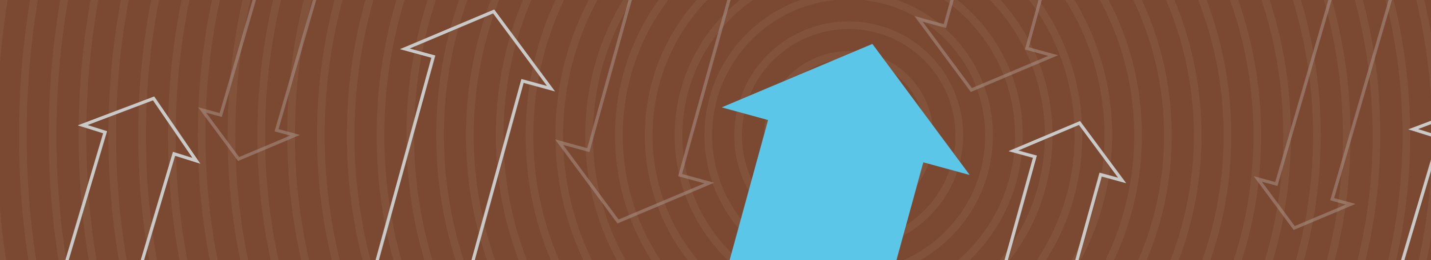 illustration of arrows pointing up on brown background