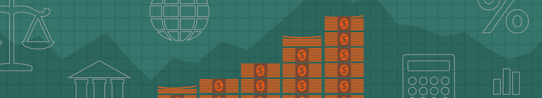 illustration of money increasing