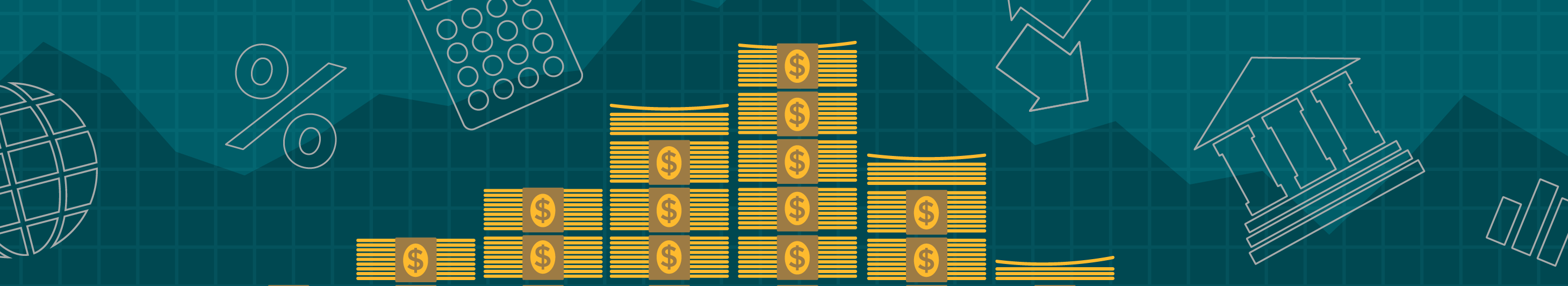 illustration of money and chart