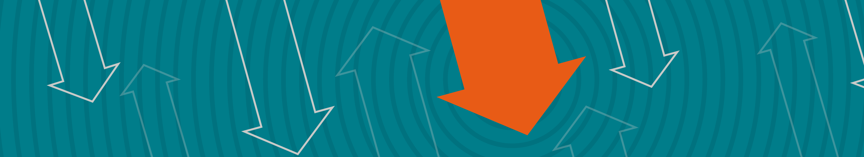illustration of orange arrow pointing down