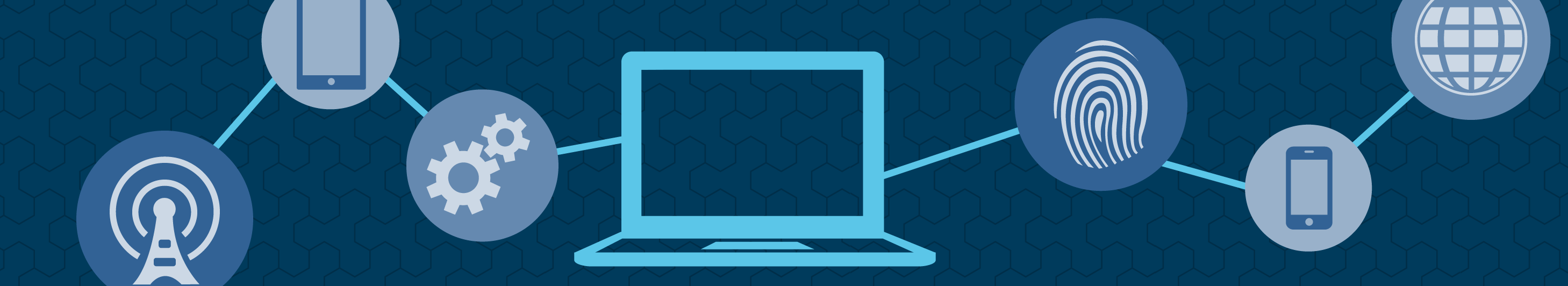 illustration of a laptop in a blue background