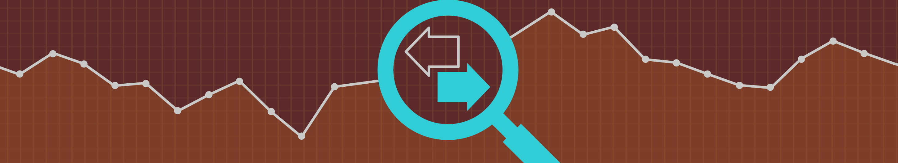 illustration of magnifying glass on brown background