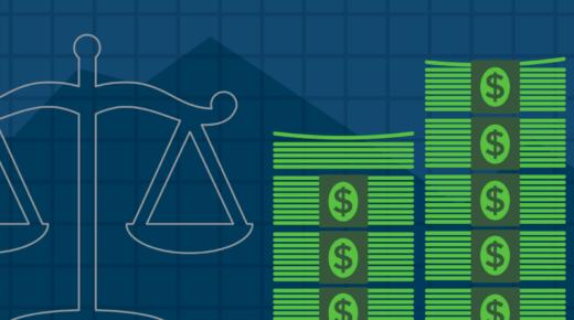 illustration of stacks of cash