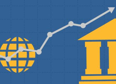 illustration of a chart and monetary symbols