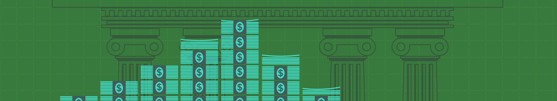 illustration of stacked cash
