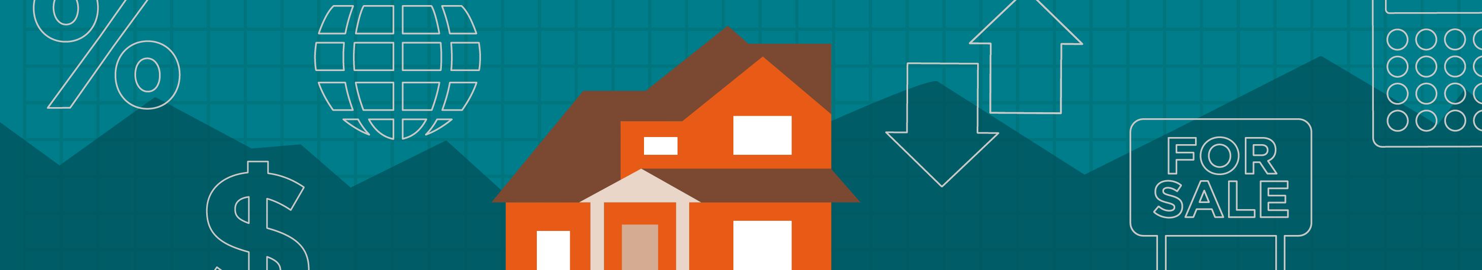illustration of an orange house