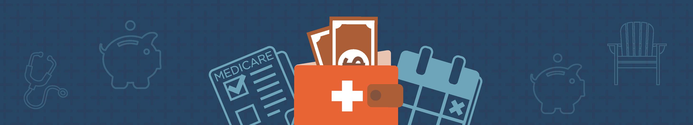 illustration of medicare on blue background