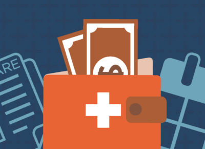 illustration of medicare on blue background