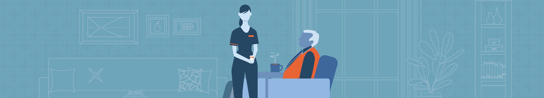 illustration of a hospital lobby