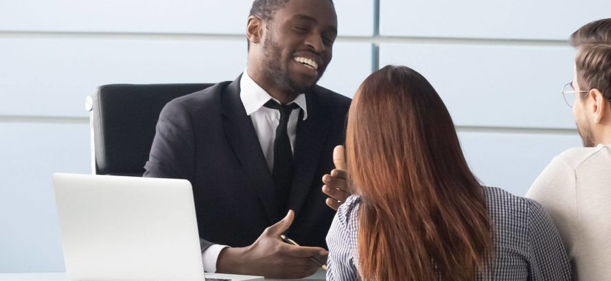 Financial advisor providing support to clients