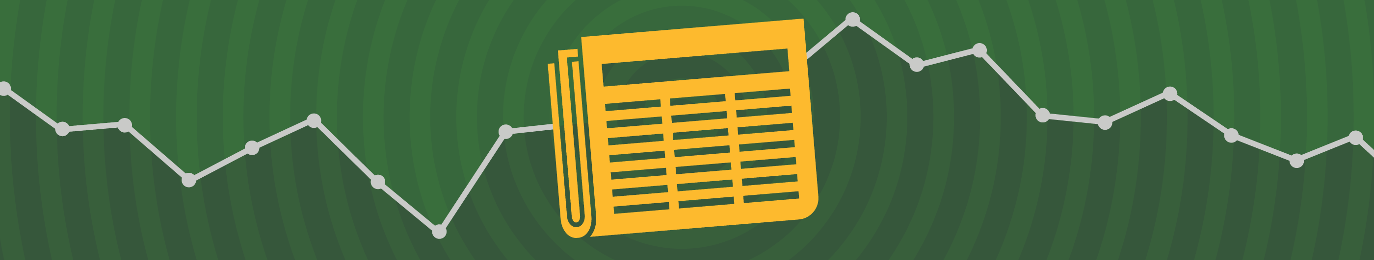 illustration of a yellow newspaper on a green background