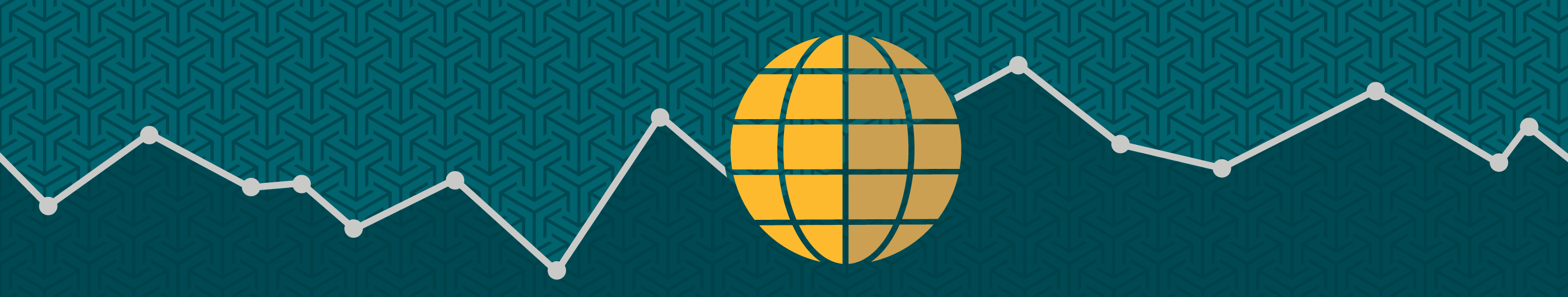 illustration of a yellow globe on a green background