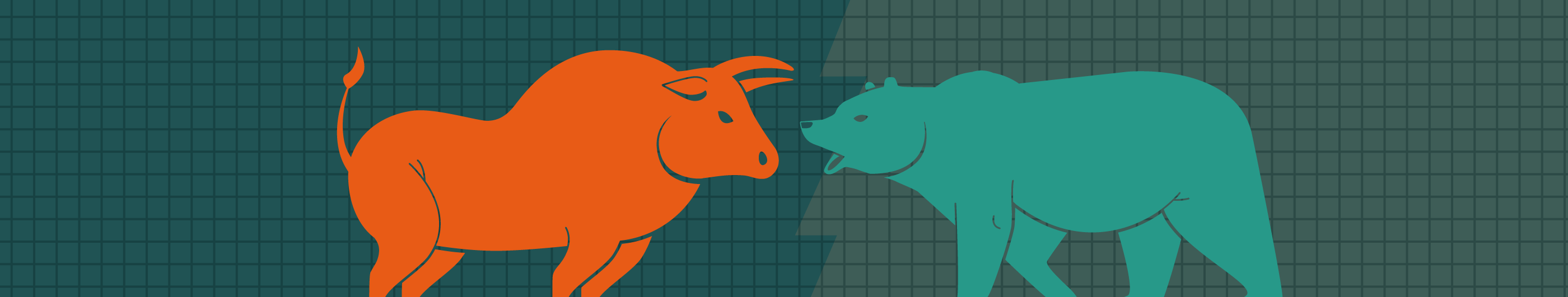 illustration of a bull and a bear